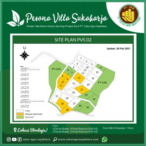 update stok kebun durian bawor dan kopi robusta pesona villa sukaharja